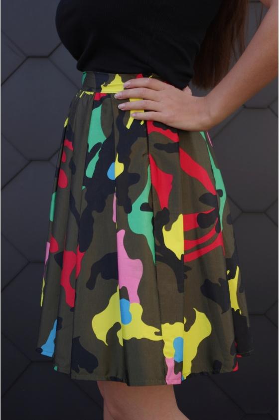 Kamufliažinis sijonas. Liko S dydis