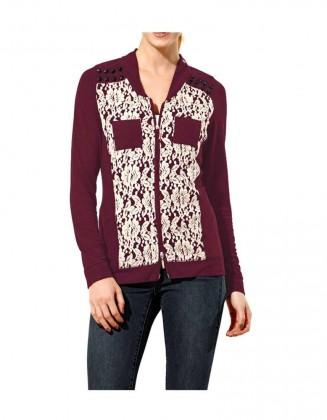 Bordo megztinis