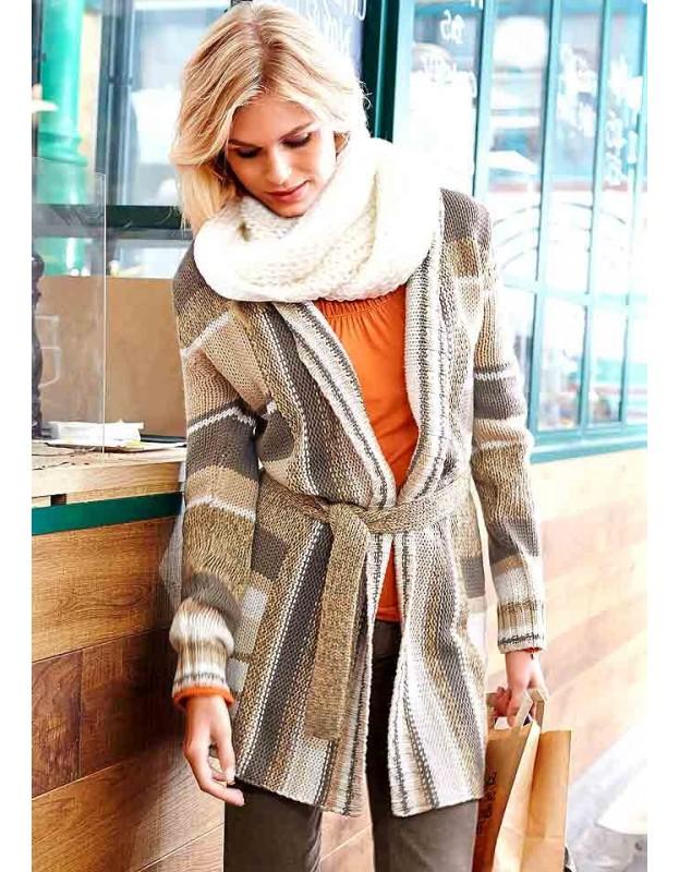 Rudas ilgas megztinis