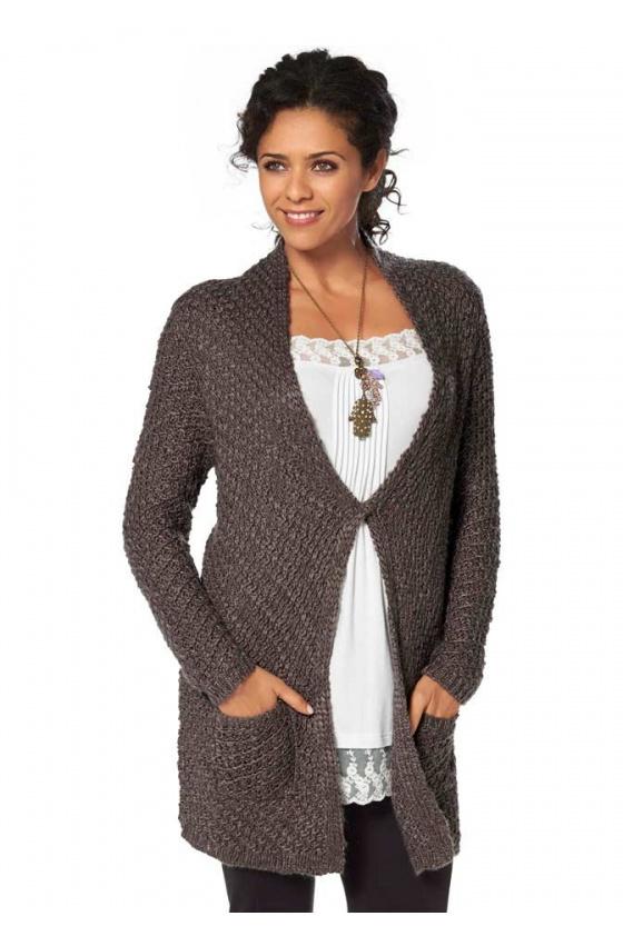 "Vilnonis megztinis ""Taupe"""