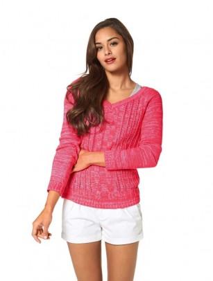 Sweatshirt, neon pink