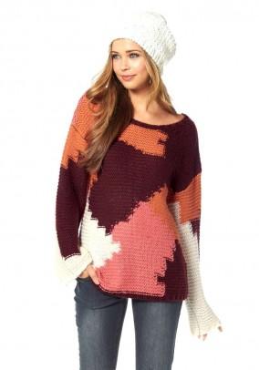 Daugiaspalvis megztinis