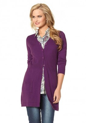 Long cardigan, fuchsia