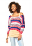 Striped sweatshirt, multicolour