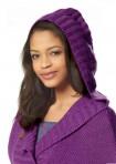 Long shirt with hood, purple