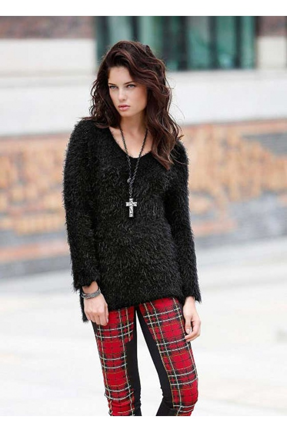Fluffy sweatshirt, black