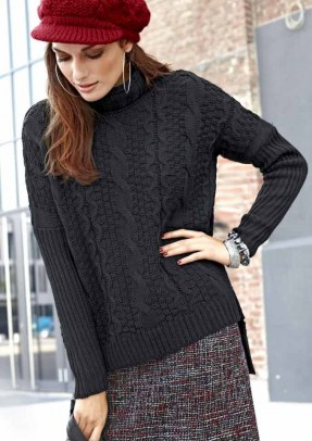 Label sweater, black