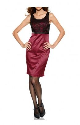 Elegantiška bordo suknelė