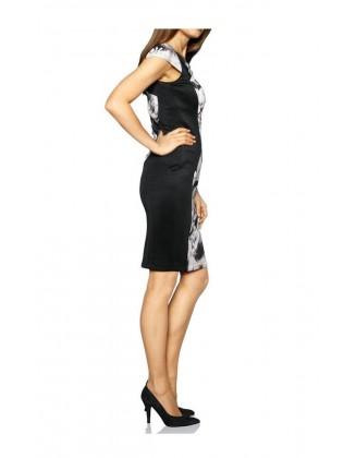 Klasikinė suknelė pilka - juoda