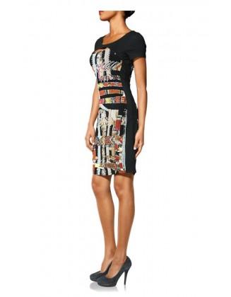 Aptempta marga suknelė