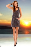 Silky crash-dress, grey