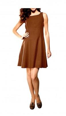 Ruda suknelė su vilna