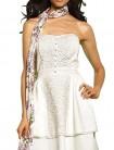 Balta suknelė su nuimamomis petnešėlėmis