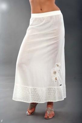 Baltas maxi sijonas