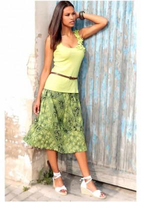 Layer skirt, green-multicolour