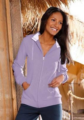 Label hoody, lavender