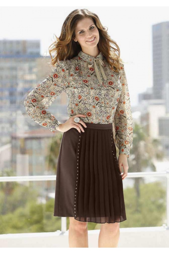 Tamsiai rudas sijonas