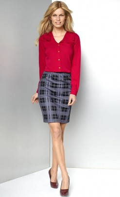 Languotas pilkas sijonas
