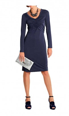 Draped dress, midnight blue