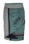 Satin skirt, green-multicolour