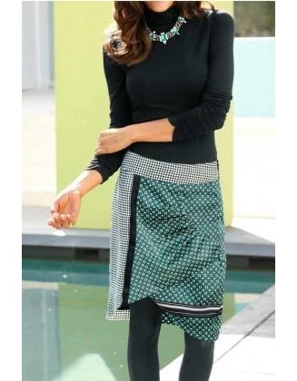 Žalias satino sijonas