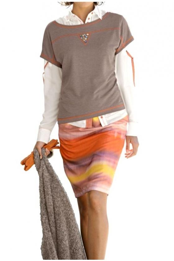 Pastelinių spalvų sijonas
