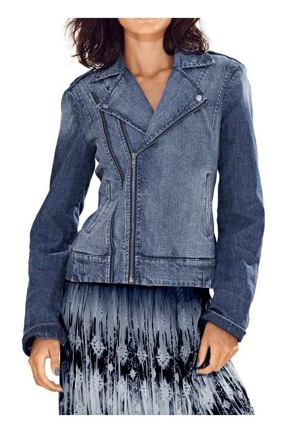 Mėlynas džinsinis švarkas