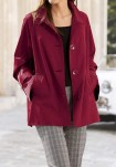 Raudonas plonas paltukas