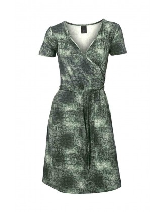 Žalia suknelė su dirželiu