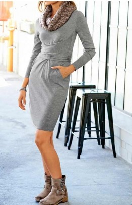 "Pilka suknelė ""Grey"""