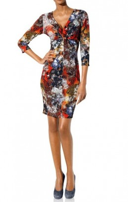 Bodyforming dress, multicolour