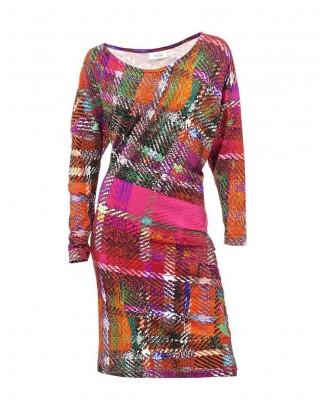 Įvairiaspalvė suknelė