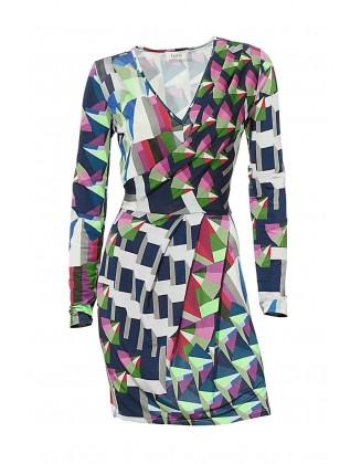 Ryškiaspalvė suknelė
