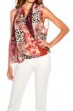 Chiffon print blouse, multicolour