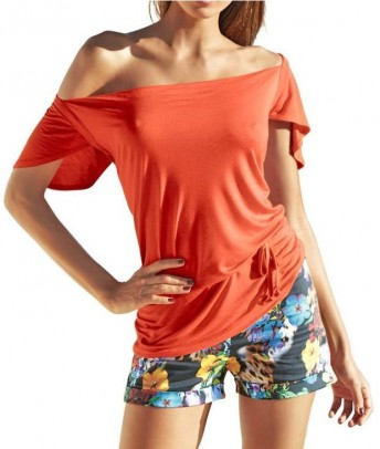 Waterfall shirt, orange