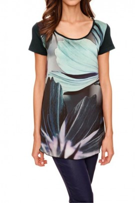 Print shirt, black-multicolour