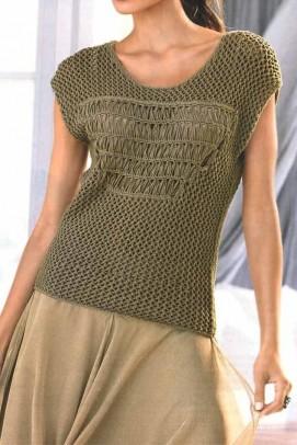 Ajour pattern sweatshirt, khaki