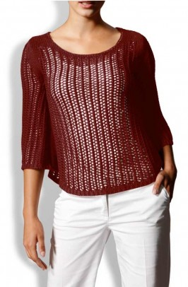 "Pončas - megztinis ""Terracotta"""