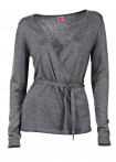Susiaučiamas pilkas megztinis