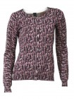 Print cardigan, purple-colourful