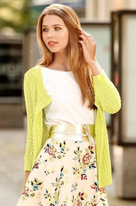 Cardigan, yellow