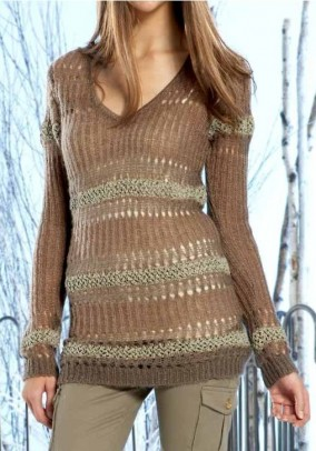 Sweatshirt, brown-copper-reed