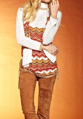 Sweatshirt, cream-sand-terracotta
