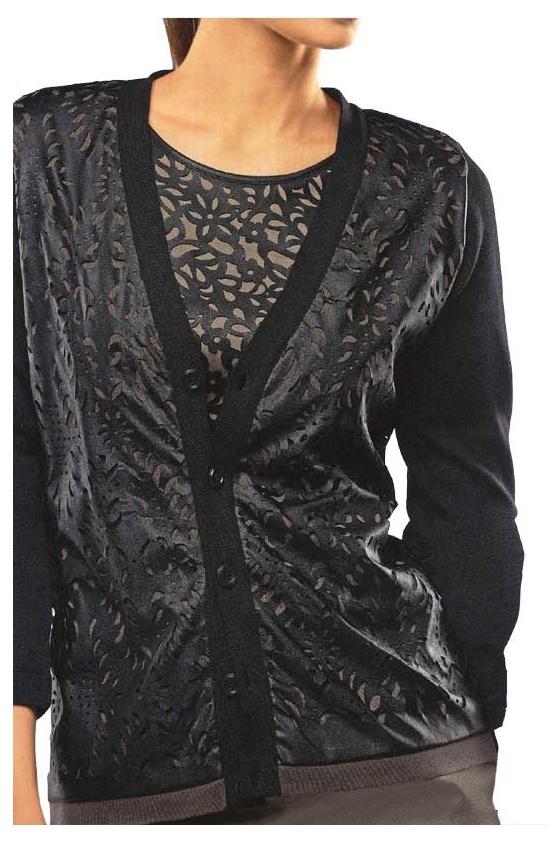 Juodas karpytas megztinis