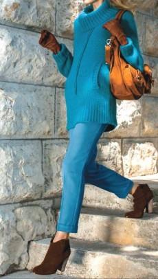 Klasikinės melsvos kelnės