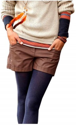Faux leather shorts, brown