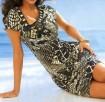 Marga suknelė dekoruota karoliukais