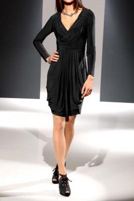 Designer drape dress, black