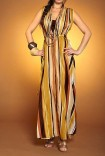 Maxi duo-dress, earth tones