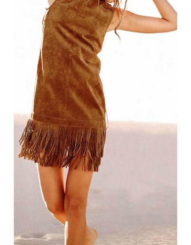 Verstos odos suknelė su kutais